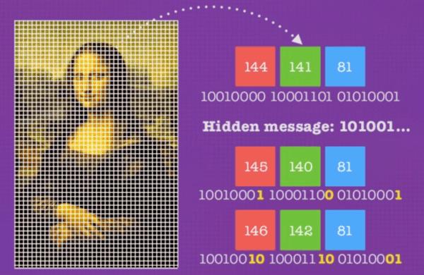 استگانوگرافی Steganography  در علم رمزنگاری و کریپتوگرافی